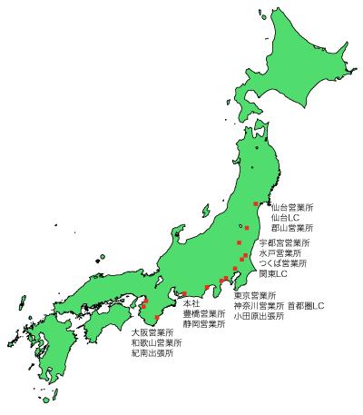 ムサシエンジニヤリング営業所地図